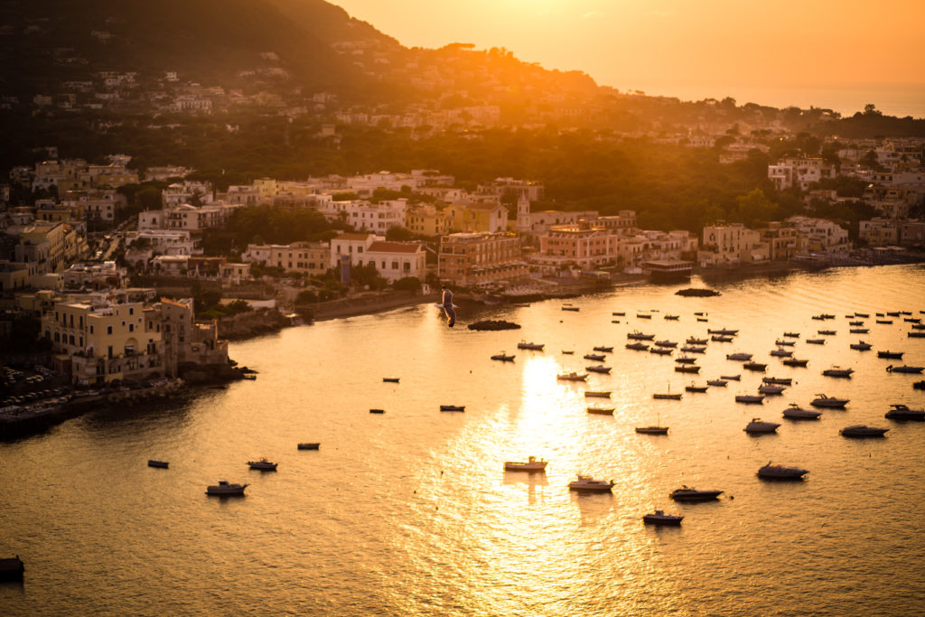 sunset in ischia