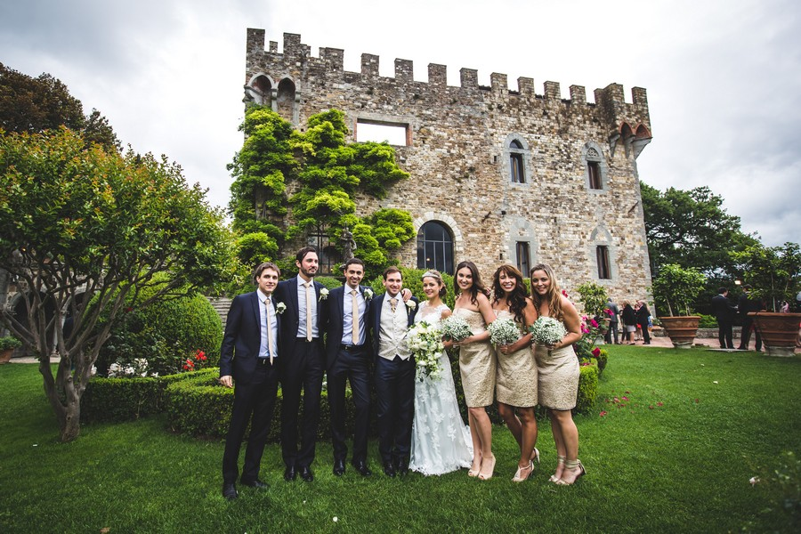 wedding in tuscany castle