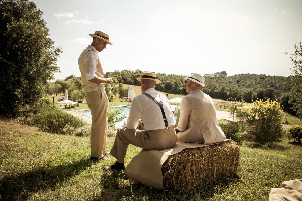 matrimonio vintage in collina toscana