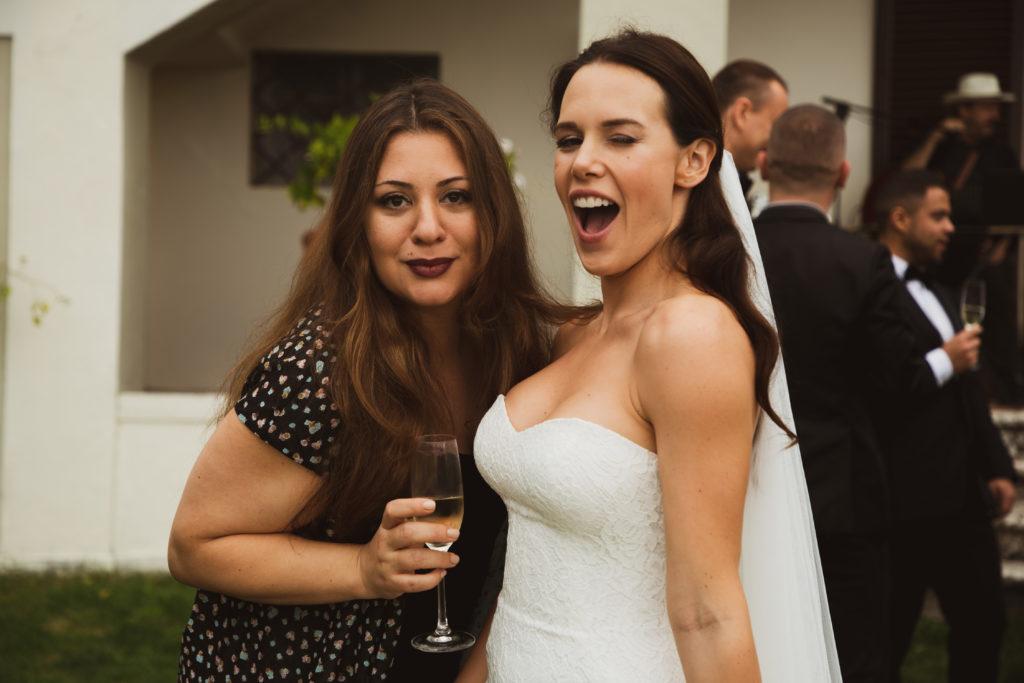 sposa con amica
